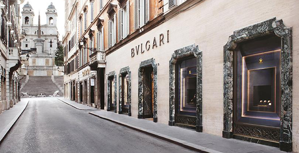 The Bvlgari's store in Rome. Photo: bulgari.com