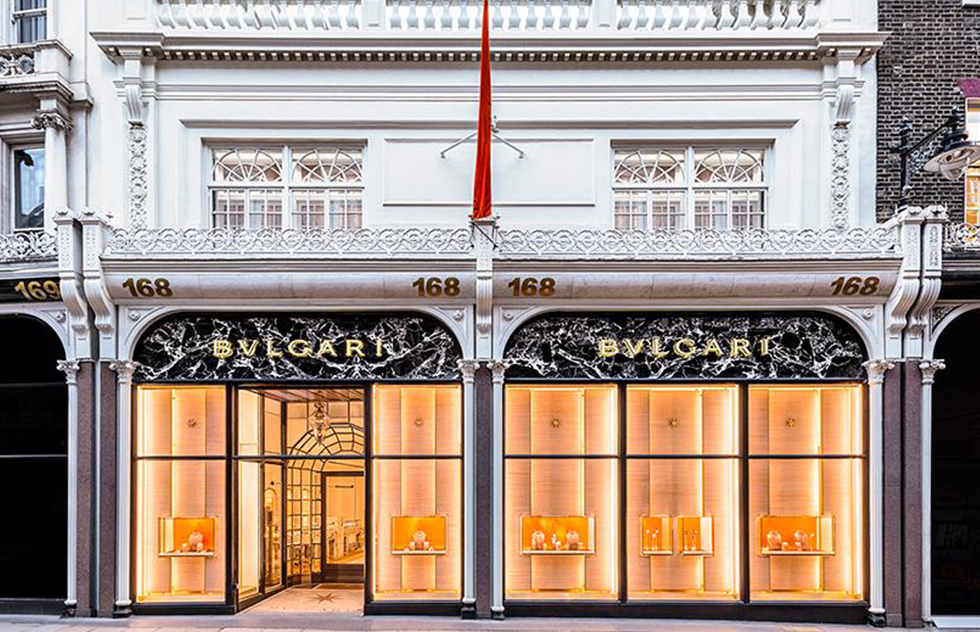 The Bvlgari's store in London. Photo: bulgari.com