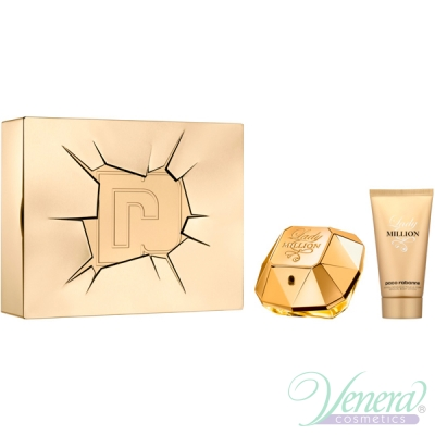 Paco Rabanne Lady Million Комплект (EDP 80ml + BL 100ml) за Жени За Жени