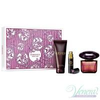 Versace Crystal Noir Set (EDT 90ml + EDT 10ml + BL 100ml) за Жени Дамски Комплекти