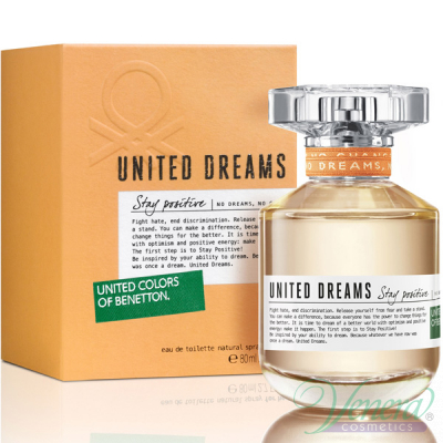 Benetton United Dreams Stay Positive EDT 80ml за Жени Дамски Парфюми