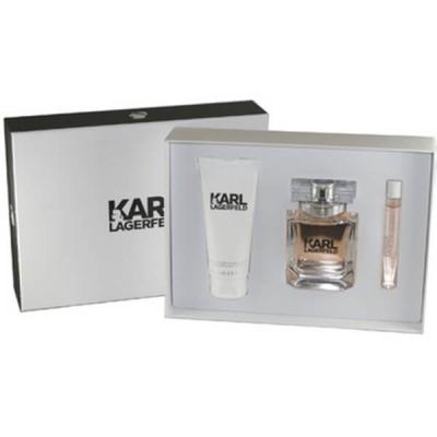 Karl Lagerfeld for Her Комплект (EDP 85ml + Roll-On 100ml + BL 100ml) за Жени Дамски Комплекти