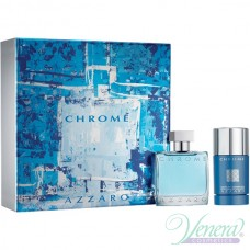 Azzaro Chrome Комплект (EDT 50ml + Deo Stick 75ml) за Мъже