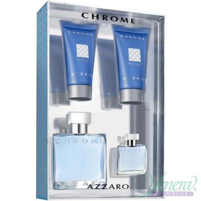 Azzaro Chrome Комплект (EDT 50ml + EDT 7ml + AS Balm 50ml + SG 50ml) за Мъже