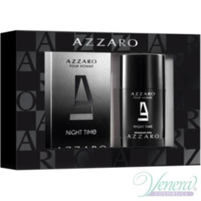 Azzaro Pour Homme Night Time Комплект (EDT 50ml + Deo Stick 75ml) за Мъже Мъжки Комплекти