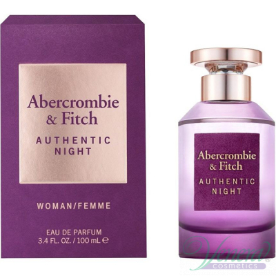 Abercrombie & Fitch Authentic Night Woman EDP 100ml за Жени Дамски Парфюми