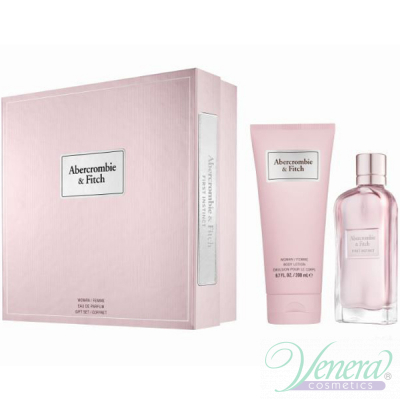Abercrombie & Fitch First Instinct for Her Комплект (EDP 100ml + BL 200ml) за Жени
