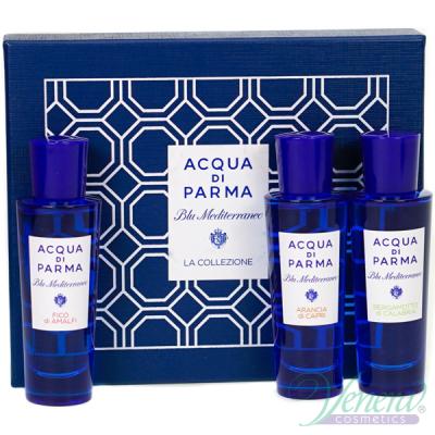 Acqua di Parma Blu Mediterraneo Комплект (Fico di Amalfi EDT 30ml + Arancia di Capri EDT 30ml + Bergamotto di Calabria EDT 30ml) за Мъже и Жени