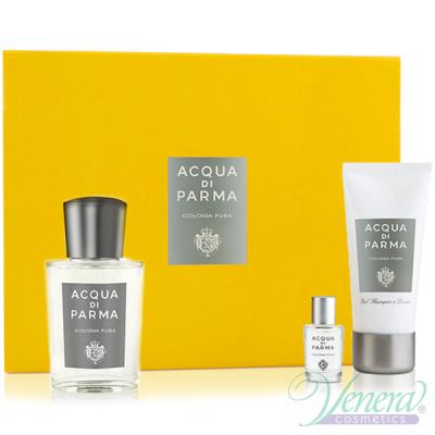 Acqua di Parma Colonia Pura Комплект (EDC 100ml + EDC 5ml + SG 50ml) за Мъже и Жени