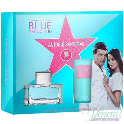 Antonio Banderas Blue Seduction Комплект (EDT 50ml + BL 100ml) за Жени Дамски Комплект
