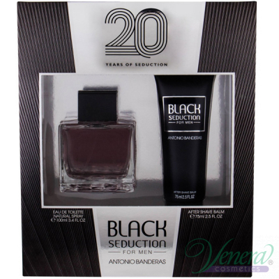 Antonio Banderas Seduction in Black Set (EDT 100ml + AS Balm 75ml) за Мъже Мъжки Комплекти