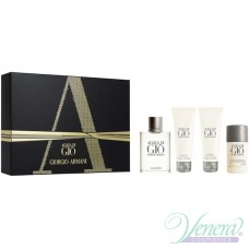 Armani Acqua Di Gio Комплект (EDT 100ml + AS Balm 75ml + SG 75ml + Deo Stick 75ml) за Мъже
