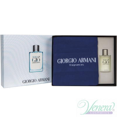 Armani Acqua Di Gio Комплект (EDT 100ml + Towel) за Мъже