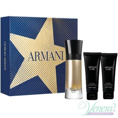 Armani Code Absolu Комплект (EDP 60ml + AS Balm 75ml + SG 75ml) за Мъже Мъжки Комплекти