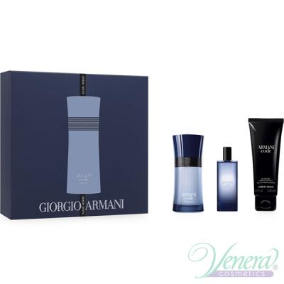 Armani Code Colonia Комплект (EDT 50ml + EDT 15ml + SG 75ml) за Mъже Мъжки Комплекти