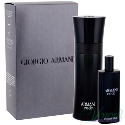 Armani Code Комплект (EDT 75ml + EDT 15ml) за Mъже Мъжки комплекти
