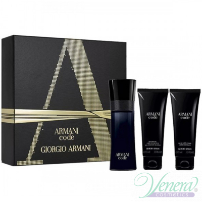 Armani Code Комплект (EDT 75ml + AS Balm 75ml + SG 75ml) за Mъже Мъжки Комплекти