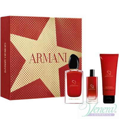 Armani Si Passione Комплект (EDP 100ml + EDP 15ml + BL 75ml) за Жени Дамски Комплекти