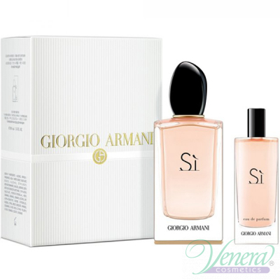 Armani Si Set (EDP 100ml + EDP 15ml)за Жени Дамски Комплекти