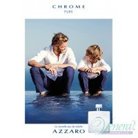 Azzaro Chrome Pure Комплект (EDT 100ml + AS Lotion 100ml) за Мъже Мъжки Комплекти