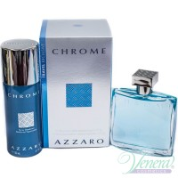 Azzaro Chrome Комплект (EDT 100ml + Deo Spray 150ml) за Мъже Мъжки Комплекти