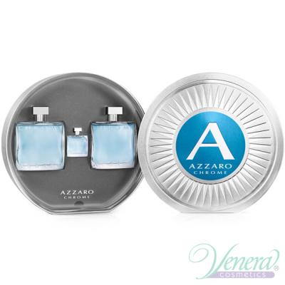 Azzaro Chrome Комплект (EDT 100ml + AS Balm 100ml + EDT 7ml) за Мъже Мъжки Комплекти