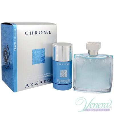 Azzaro Chrome Комплект (EDT 100ml + Deo Stick 75ml) за Мъже