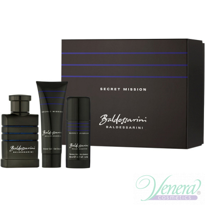 Baldessarini Secret Mission Set (EDT 50ml + Deo Stick 40ml + SG 50ml) за Мъже Мъжки Комплекти