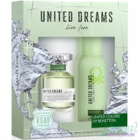 Benetton United Dreams Live Free Комплект (EDT 80ml + Deo Spray 150ml) за Жени Дамски Комплекти