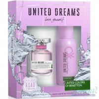 Benetton United Dreams Love Yourself Комплект (EDT 80ml + Deo Spray 150ml) за Жени Дамски Комплекти
