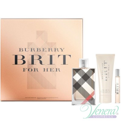 Burberry Brit Комплект (EDP 100ml + EDP 7.5ml + BL 75ml) за Жени Дамски Комплекти