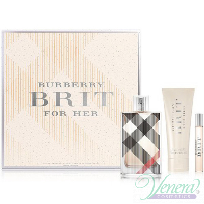 Burberry Brit Комплект (EDP 100ml + EDP 7.5ml + BL 75ml) за Жени
