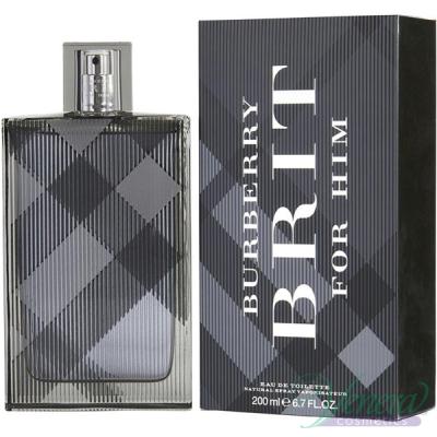 Burberry Brit EDT 200ml за Мъже Мъжки Парфюми