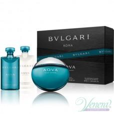 Bvlgari Aqva Pour Homme Комплект (EDT 50ml + SG 40ml + ASB 40ml) за Мъже