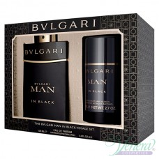 Bvlgari Man In Black Комплект (EDP 100ml + Deo Stick 75ml) за Мъже