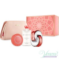 Bvlgari Omnia Coral Set (EDT 65ml + BL 75ml + Soap + Pouch) for Women Women's Gift sets
