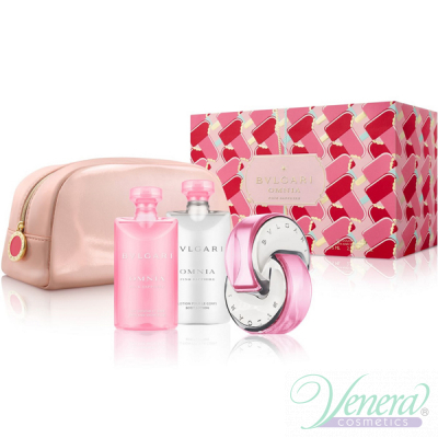 Bvlgari Omnia Pink Sapphire Комплект (EDT 65ml + BL 75ml + SG 75ml + Bag) за Жени