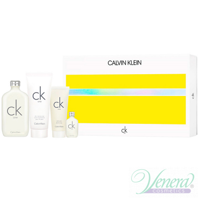 Calvin Klein CK One Комплект (EDT 200ml + EDT 15ml + BL 100ml + SG 100ml) за Мъже и Жени Унисекс Комплекти