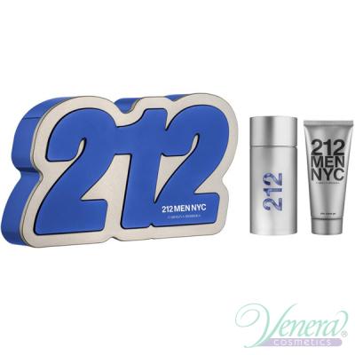 Carolina Herrera 212 Комплект (EDT 100ml + Shower Gel 100ml) за Мъже Мъжки Комплекти