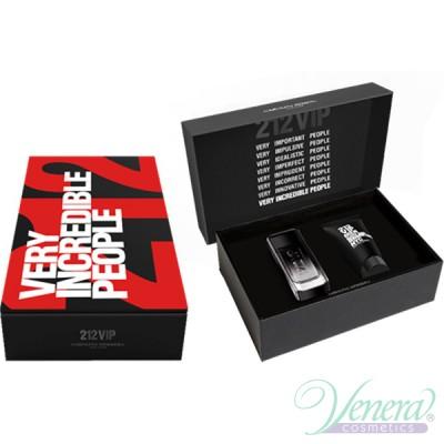 Carolina Herrera 212 VIP Black Комплект (EDP 100ml + SG 100ml) за Мъже Мъжки Комплекти