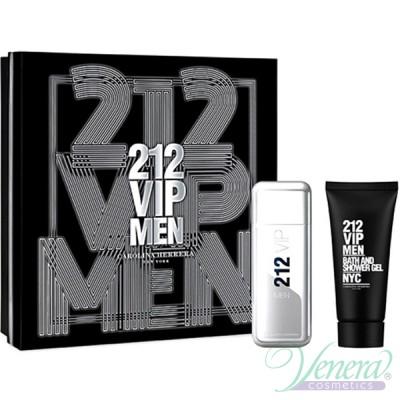 Carolina Herrera 212 VIP Men Комплект (EDT 100ml + Shower Gel 100ml) за Мъже Мъжки Комплекти