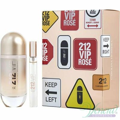 Carolina Herrera 212 VIP Rose Комплект (EDP 80ml + EDP 10ml) за Жени Дамски Парфюми