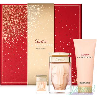 Cartier La Panthere Комплект (EDP 75ml + EDP 6ml + BL 100ml) за Жени Дамски Комплекти