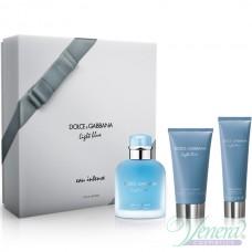 Dolce&Gabbana Light Blue Eau Intense Pour Homme Комплект (EDP 100ml + AS Balm 75ml + SG 50ml) за Мъже