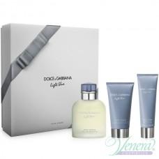 Dolce&Gabbana Light Blue Комплект (EDT 125ml + AS Balm 75ml + SG 50ml) за Мъже