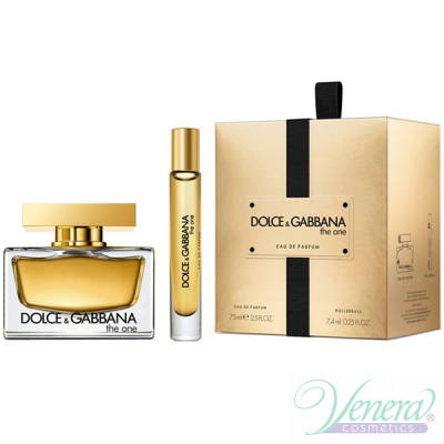 Dolce&Gabbana The One Комплект (EDP 75ml + EDP 7.4ml) за Жени Дамски Комплекти