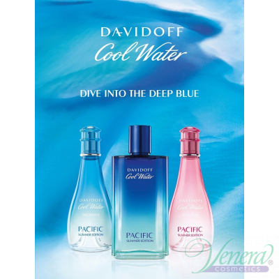Davidoff Cool Water Pacific Summer Edition EDT 100ml за Жени БЕЗ ОПАКОВКА Дамски Парфюми без опаковка
