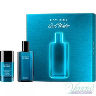 Davidoff Cool Water Комплект (EDT 75ml + Deo Stick 75ml) за Мъже Мъжки Комплекти