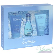 Davidoff Cool Water Комплект (EDT 30ml + BL 50ml + SG 50ml) за Жени