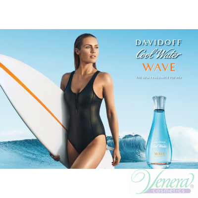 Davidoff Cool Water Woman Wave EDT 100ml за Жени БЕЗ ОПАКОВКА